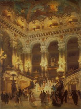 The Lobby of the Paris Opera by Jean Béraud