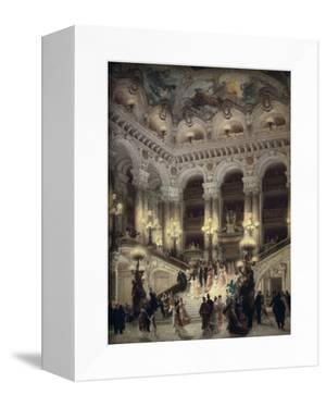The Stairway of the Opera, Paris by Jean Béraud