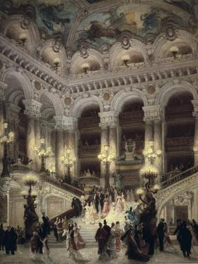 The Stairway of the Opera, Paris by Jean Béraud