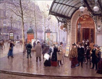Theatre du Vaudeville by Jean Béraud