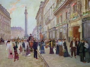 Workers Leaving the Maison Paquin, in the Rue de La Paix, circa 1900 by Jean Béraud