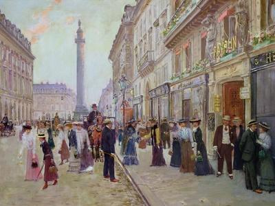 Workers Leaving the Maison Paquin, in the Rue de La Paix, circa 1900