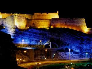 Fort Saint-Nicolas, Lit Up at Night, Marseille, France by Jean-Bernard Carillet