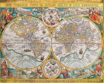 Antique Map, Orbis Terrarum, 1636 by Jean Boisseau