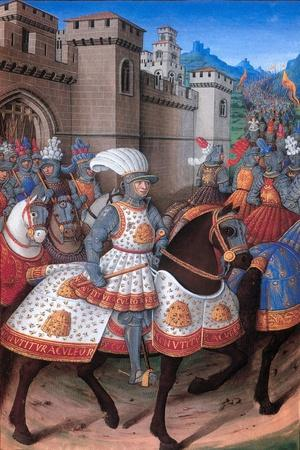 La Conquete de Genes (1507). King Louis XII leaves Alexandria, which he has just subdued.
