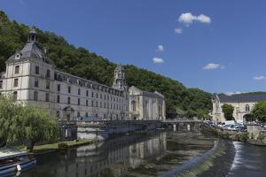 Abbey by the River Dronne, Brantome, Dordogne, Aquitaine, France, Europe by Jean Brooks
