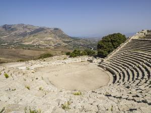 Ampitheatre, Segesta, Sicily, Italy, Europe by Jean Brooks