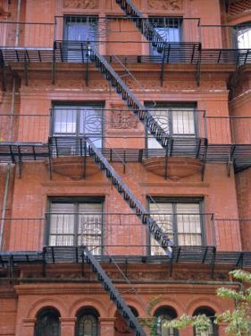 Apartment Fire Escapes, Brooklyn, New York, Ny, USA by Jean Brooks