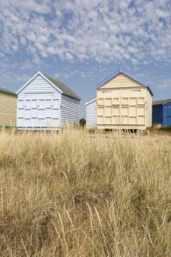Beach Huts, Hayling Island, Hampshire, England, United Kingdom, Europe by Jean Brooks