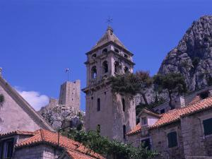 Bell Tower and Fortress, Omis, Makarska Riviera, Croatia by Jean Brooks
