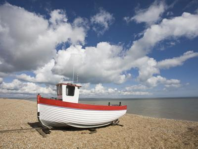 Boat on the Beach, Dungeness, Kent, England, United Kingdom, Europe by Jean Brooks