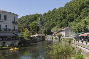 Canoe on River Dronne, Brantome, Dordogne, Aquitaine, France, Europe by Jean Brooks
