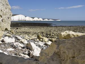 Coastline at Seven Sisters, Hope Cove, Near Seaford, East Sussex, England, United Kingdom, Europe by Jean Brooks
