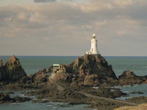 Corbiere Lighthouse, Jersey, Channel Islands, United Kingdom, Europe by Jean Brooks