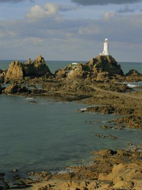 Corbieres Lighthouse, Jersey, Channel Islands, UK, Europe by Jean Brooks