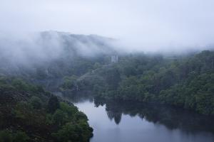 Dawn, Crozant Castle and the River Creuse, Limousin, France, Europe by Jean Brooks