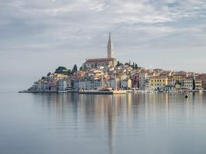 Early morning, Old Town reflections, Rovinj, Istria, Croatia by Jean Brooks