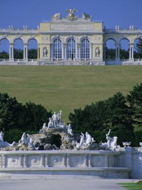 Gloriette and Neptune Fountain, Schonbrunn Gardens, Unesco World Heritage Site, Vienna, Austria by Jean Brooks