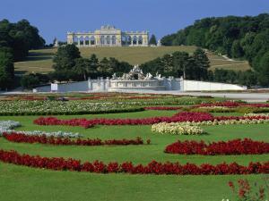 Gloriette and Neptune Fountain, Schonbrunn Gardens, UNESCO World Heritage Site, Vienna, Austria by Jean Brooks