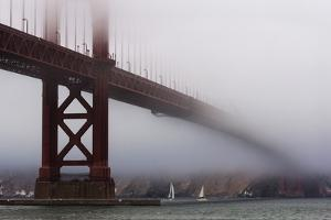 Golden Gate Bridge in the Mist, San Francisco, California, United States of America, North America by Jean Brooks