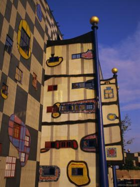 Hundertwasser's Incinerator, Vienna, Austria, Europe by Jean Brooks