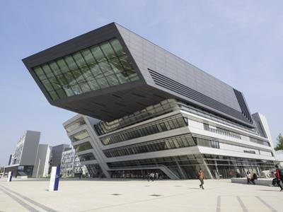 Library and Learning Centre, Designed by Zaha Hadid, University of Economics and Business by Jean Brooks