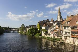 Medieval Houses by the River Creuse, Argenton-Sur-Creuse, Indre, Centre, France, Europe by Jean Brooks