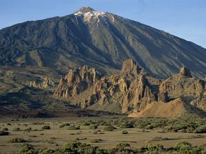 Mount Teide and Las Rochas, Tenerife, Canary Islands, Spain, Europe by Jean Brooks