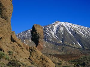 Mount Teide and Las Roques, Tenerife, Canary Islands, Spain by Jean Brooks