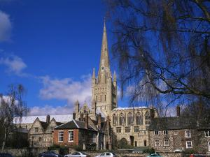 Norwich Cathedral from the Close, Norwich, Norfolk, England, United Kingdom by Jean Brooks