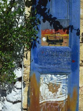 Painted Shutter, Chania Old Town, Crete, Greek Islands, Greece, Europe by Jean Brooks
