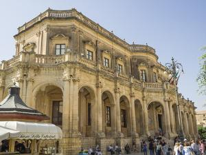 Palazzo Ducezio (Town Hall), UNESCO World Heritage Site, Noto, Sicily, Europe by Jean Brooks