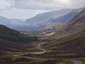 Road Through Glen Docherty, Wester Ross, Highlands, Scotland, United Kingdom, Europe by Jean Brooks