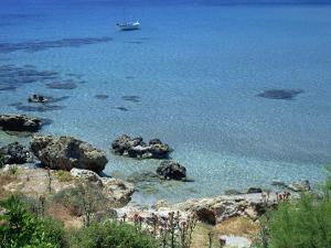 Rocks and Sea, Frangokastello, Crete, Greek Islands, Greece, Europe by Jean Brooks