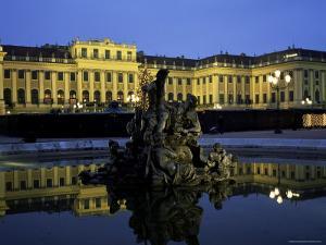 Schonbrunn Palace at Dusk, Unesco World Heritage Site, Vienna, Austria, Europe by Jean Brooks