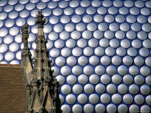 Selfridges Building and St. Martin's Church, Bullring, Birmingham, England, United Kingdom by Jean Brooks