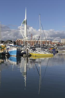 Spinnaker Tower and Camber Docks, Portsmouth, Hampshire, England, United Kingdom, Europe by Jean Brooks