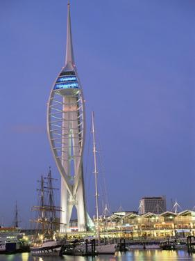 Spinnaker Tower at Twilight, Gunwharf Quays, Portsmouth, Hampshire, England, United Kingdom, Europe by Jean Brooks
