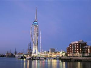 Spinnaker Tower at Twilight, Gunwharf Quays, Portsmouth, Hampshire, England, United Kingdom by Jean Brooks