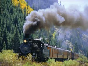 Steam Train, Durango & Silverton Railroad, Silverton, Colorado, USA by Jean Brooks