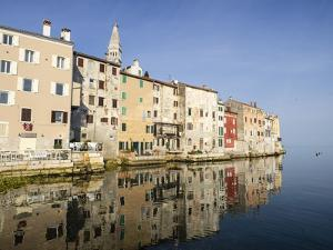 The Old Town with reflections early morning, Rovinj, Istria, Croatia by Jean Brooks