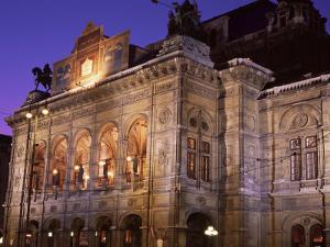 The Opera at Night, Vienna, Austria by Jean Brooks