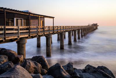 The Pier at sunset, Swakopmund, Namibia by Jean Brooks