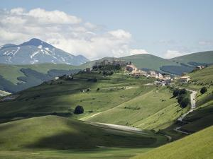 View from the Piano Grande Towards Castelluccio, Umbria, Italy, Europe by Jean Brooks
