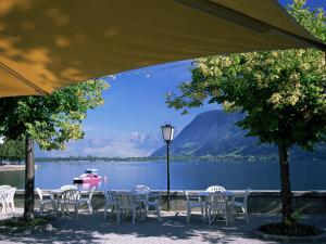 View of the Lake from Cafe, Zell Am See, Austria by Jean Brooks