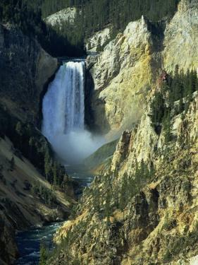 Waterfall, Grand Canyon of the Yellowstone, Yellowstone National Park, Wyoming, USA by Jean Brooks