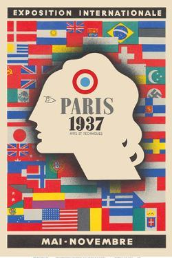 1937 International Exhibition - Paris, France - Arts and Techniques by Jean Carlu