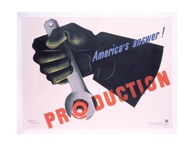 Production - America's Answer! Poster