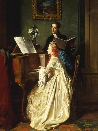 The Music Lesson, 1858
