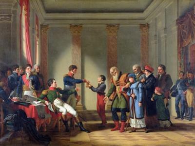Napoleon Bonaparte (1769-1821) Giving a Pension of a Hundred Napoleons to the Pole